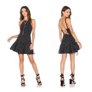 NBD rolling stone pika dot dress NWT